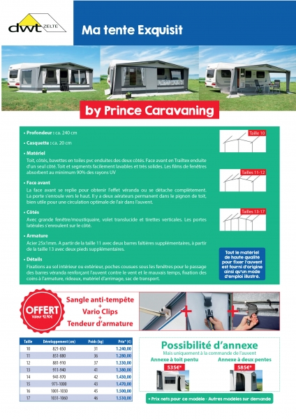 Mon Auvent Exquisit By Prince Caravaning